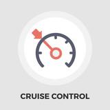Cruise control flat icon