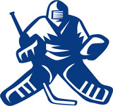 Ice Hockey Goalie Retro