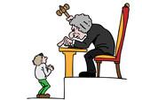 Sträng domare och liten man