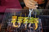 Traditional asian street food