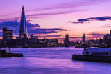 Monder London cityscape during sunset