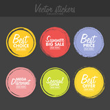 Vector set of vintag...