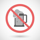Forbidden vector signal with   a beer jar icon