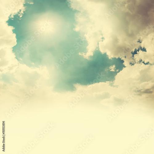 Fototapeta Beautiful Vintage Sky with Clouds