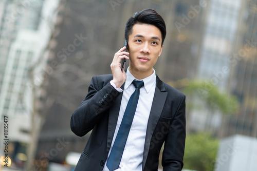 Businessman talk to cellphone