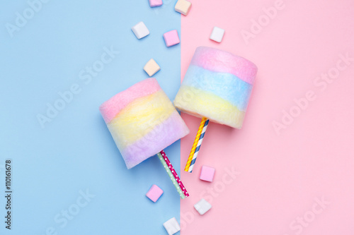 Poster Multicolored Cotton candy
