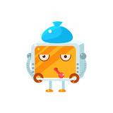 Sick Little Robot Character