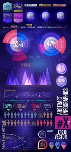 Business infographics set. Charts, tables, graphs template. Infographics elements. Vector illustration. © studioworkstock