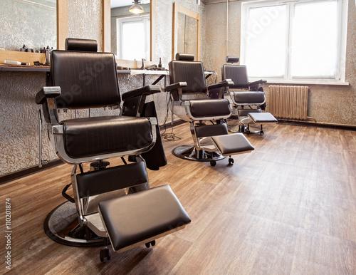 Interior of a barbershop
