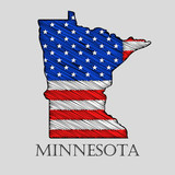 State Minnesota - vector illustration.