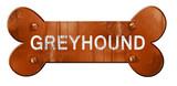 Greyhound, 3D rendering, rough brown dog bone