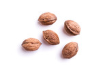 five walnuts - isolated