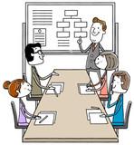 イラスト素材:ビジネス 会議 ミーティング 打ち合わせ