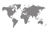 Grey blank world map. - 110257004