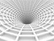 Abstract White Tunnel 3d Background