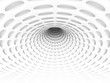 White Abstract Hole Tunnel Background