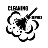 Vector cleaning service icon
