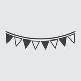 Bunting icon illustration