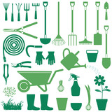 Gardening related vector icons 2 - 110294061
