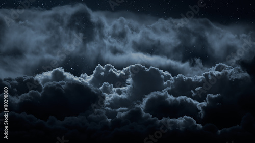 Above the clouds at night