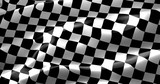 Fototapety checkered flag, end race background