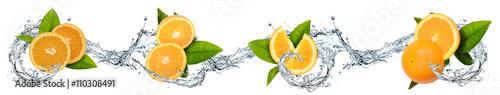 Pomarańcze oblane wodą