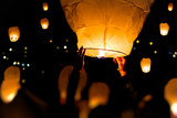 Make A Wish, A chinese lantern with lots more in the background - 110312234