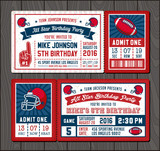 Football invite tickets 2