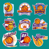 basketball labels and stickers