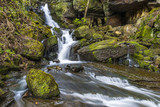 Waterfall in Lumsdale Valley in Matlock, Derbyshire, UK
