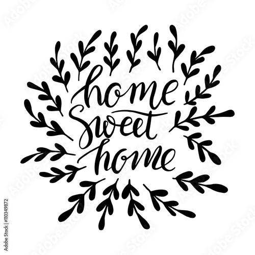 Plakát Lettering Sweet Home