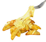 Potato Wedges And Melted Cheese