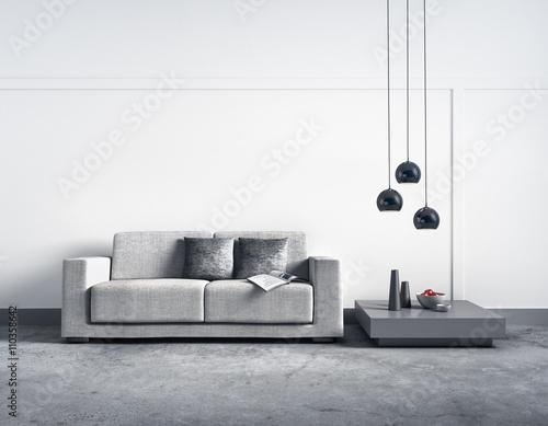 sofa vor heller wand stockfotos und lizenzfreie bilder auf bild 110358642. Black Bedroom Furniture Sets. Home Design Ideas