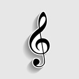 Music violin clef sign