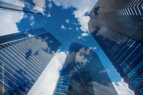 Sky and clouds reflection in skyscrappers © Artem Rudik