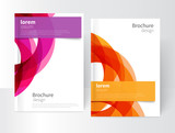Vector Abstract Business Brochure, Annual Report, Flyer, Leaflet Cover Template. Geometric abstract background yellow and purple circles intersecting. concept catalouge design. EPS 10 - 110379889