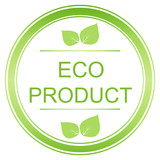 Eco product label, emblem and badge.
