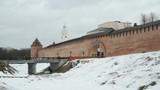 Old towers of Novgorod Kremlin, V.Novgorod, Russia