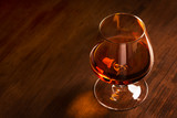 A glass of French cognac