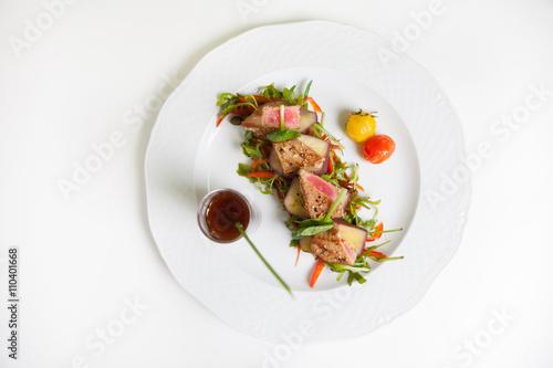Raw tuna tartar