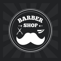 Barber shop design. hair salon. Stylist icon, vector illustration