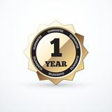1 year guarantee gold sign