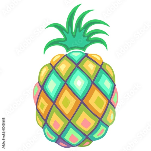 Pineapple Pastel Colors