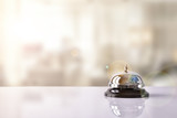 Service bell on hotel reception with Hotel background - 110446468