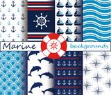 Marine patterns set - 110457403
