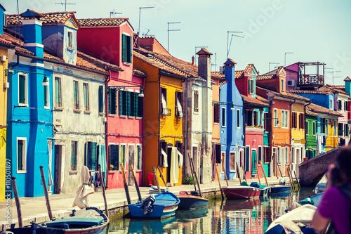 Poster Insel Burano in der Nähe von Venedig, Italien
