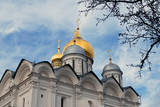 Moscow Kremlin. Archangels cathedral. Color photo.