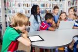 Pupils using technology
