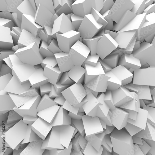 Abstract White Cubes Wall Background © VERSUSstudio