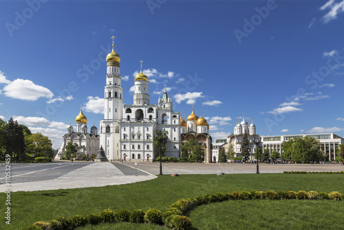 The architectural ensemble of the Moscow Kremlin. Russia